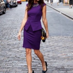 Ted Baker London Dresses - Ted Baker London Purple Evvie Peplum Dress Size 0